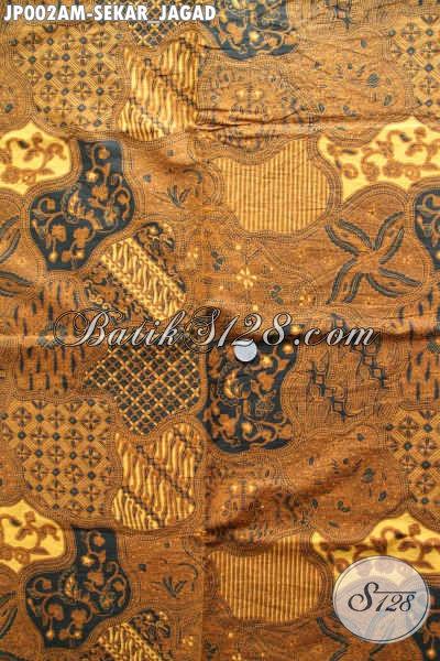 Batik Printing Sekar Jagad Halus Bahan Jarik, Kain Batik Klasik Halus Buatan Solo Asli Hanya 65 Ribu [JP002AM-240x105cm]