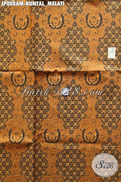 Jual Kain Batik Klasik Bahan Jarikk Motif Buntal Melati, Batik Printing Lawasan Buatan Solo Kwalitas Istimewa Harga Biasa [JP008AM-240x105cm]