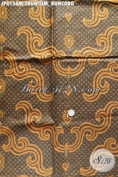 Kain Batik Bahan Jarik, Batik Klasik Proses Printing Motif Truntum Kuncoro Kwalitas Bagus Harga Murmer [JP015AM-240x105cm]