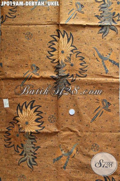Kain Batik Jarik Printing Motif Debyah Ukel, Batik Halus Istimewa Cocok Juga Untuk Busana Formal [JP019AM-240x105cm]