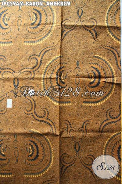 Jual Batik Jarik Klasik Online, Batik Printing Istimewa Motif Babon Anggrem Menunjang Penampilan Lebih Berkelas [JP039AM-240x105cm]