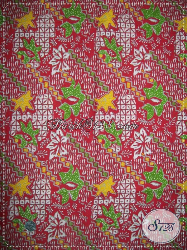Batik Warna Merah,Batik Motif Unik,Batik Motif Abstrak Untuk Seragam [K1012P]