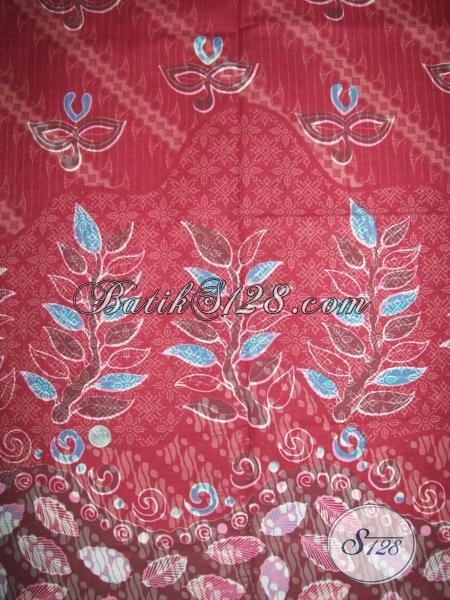 Warna BAtik Merah Muda Untuk Pakaian BAtik Wanita Trendy Dan Modern [K1379P]