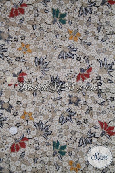 Batik Jawa Modern Motif Bunga Warna Keren, Kain Batik Mewah Bagus Harga Terjangkau [K1437BT]