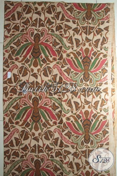 Kain Batik Klasik Bahan Busana Modern, Batik Pisang Bali Kombinasi Tulis, Batik Bahan Kemeja Dan Blus Kwalitas Terbaik [K1833BT-240x110cm]