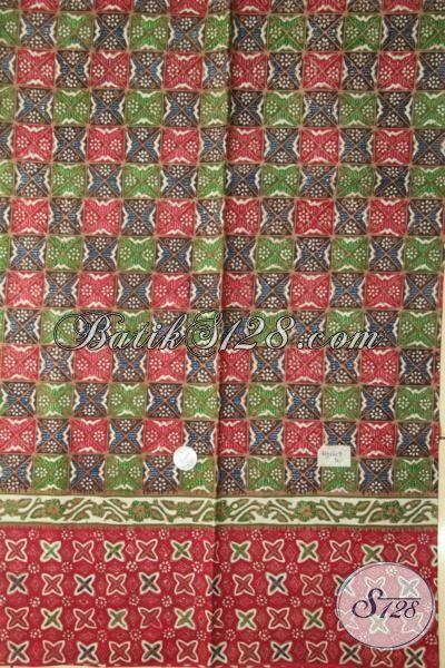 Kain Batik Tiga Motif Bahan Busana Pria Tampan, Batik Solo Cap Tulis Harga Murah Kwalitas Lebih Mewah [K1926CT-200X110 cm]