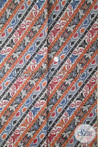 Kain Batik Paling Keren Bahan Pakaian Perempuan Masa Kini Untuk Tampil Cantik Maksimal, Batik Print Solo Halus Dengan Harga Murmer [K1949P-200 X 105 cm]