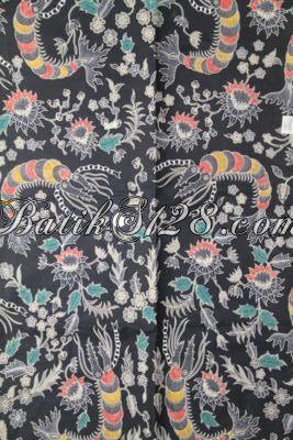 Jual Batik Modern Proses Kombinasi Tulis, Batik Hitam Motif Udang Lobster Cocok Untuk Pakaian Cowok Gaul [K1987BT-240×110 cm]