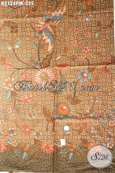 Kain Batik Jawa Halus Motif Perpaduan Klasik Dan Modern, Batik Solo Terkini Proses Kombinasi Tulis Bahan Blus Dan Kemeja Untuk Tampil Mempesona [K2124PM-240×100 cm]