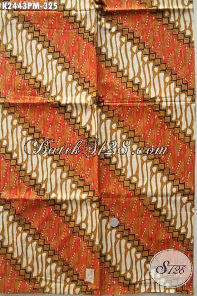 Batik Parang Klasik Warna Elegan Bahan Busana Formal Buatan Solo Proses Kombinasi Tulis harga 300 Ribuan [K2443PM-240x110cm]