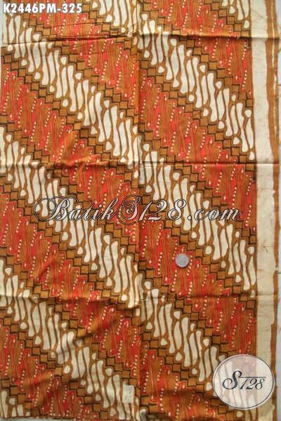Batik Parang Terkini, Kain Batik Elegan Mewah Proses Kombinasi Tulis Harga 325K Untuk Busana Formal Tampil Mewah Dan Menawan [K2446PM-240x110cm]