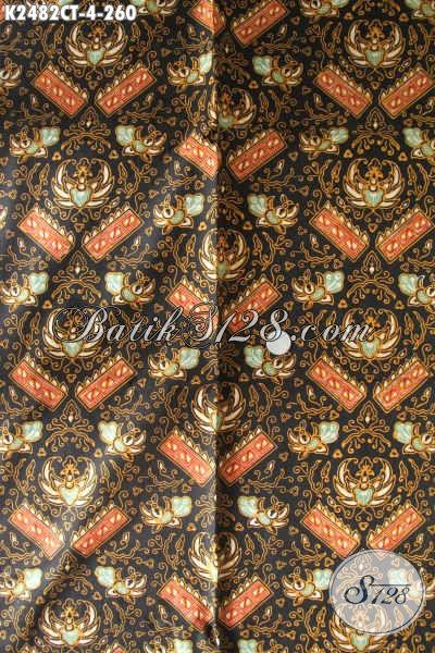 Batik Halus Motif Klasik Nan Mewah, Kain Batik Elegan Bahan Busana Formal Lelaki Tampil Macho, Batik Solo Istimewa Proses Cap Tulis Harga 200 Ribuan [K2482CT-240x110cm]