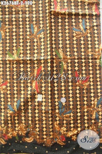 Batik Solo Motif Klasik Nan Istimewa, Kain Batik Kombinasi Tulis Bahan Pakaian Kerja Tampil Gaya Dan Berkelas [K2676BT-240x105cm]
