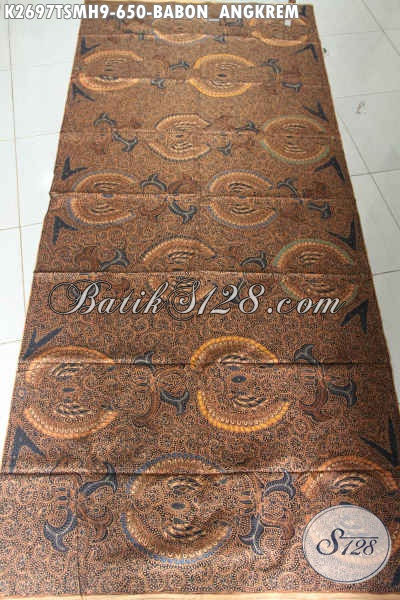 Sedia Kain Batik Klasik Mewah Motif Babon Ngkrem, Batik Halus Proses Tulis Asli Buatan Solo Harga 650K [K2697TSMH-240x110cm]