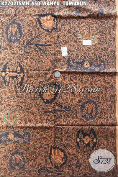 Kain Batik Mewah Buat Hem, Batik Halus Motif Klasik Wahyu Tumurun Proses Tulis Tangan Asli, Cocok Juga Untuk Blus [K2702TSMH-240x110cm]