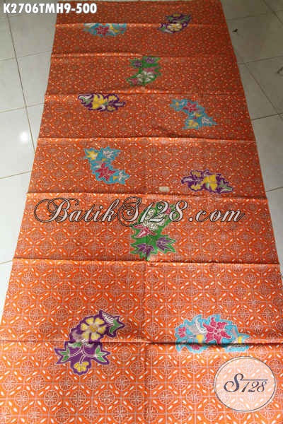 Produk Kain Batik Premium Terkini, Batik Halus Mewah Proses Tulis Motif Modern Warna Cerah Pas Buat Busana Wanita Dan Pria [K2706TMH-240x110cm]