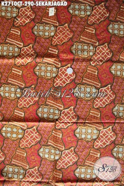 Batik Kain Klasik Sekar Jagad, Batik Halus Bahan Pakaian Pria Untuk Tampil Gagah Proses Cap Tulis [K2710CT-240x110cm]