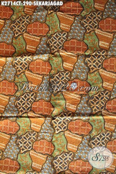 Batik Halus Sekar Jagad, Kain Batik Klasik Proses Cap Tulis Asli Buatan SoloKwalitas Premium 290K [K2714CT-240x110cm]