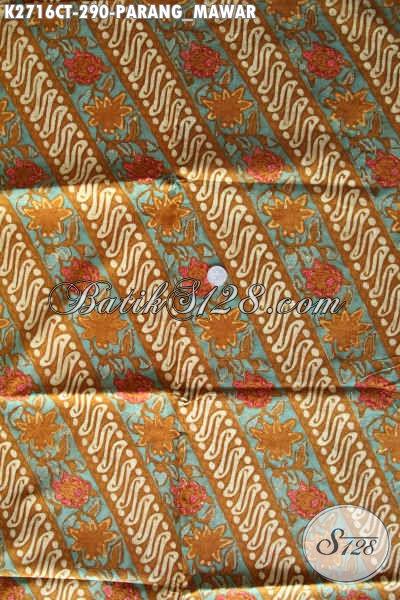 Kain Batik Istimewa Motif Parang Mawar, Batik Jawa Halus Proses Cap Tulis Bahan Busana Pria Dan Wanita Kwalitas Premium [K2716CT-240x110cm]