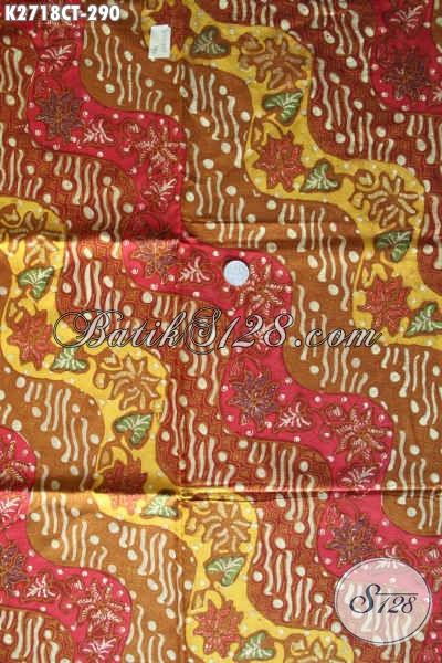 Jual Online Batik Kain Bahan Busana Berkelas Proses Cap Tulis Motif Klasik Bautan Solo Harga 290 Ribu [K2718CT-240x110cm]