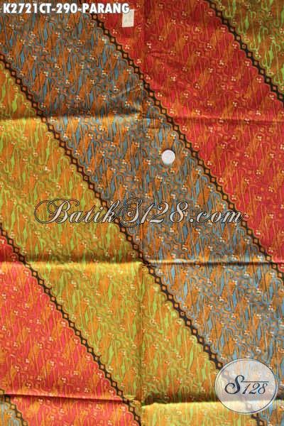 Juragan Batik Online, Sedia Kain Batik Klasik Motif Parang Cap Tulis Bahan Pakaian Formal Nan Berkelas [K2721CT-240x110cm]