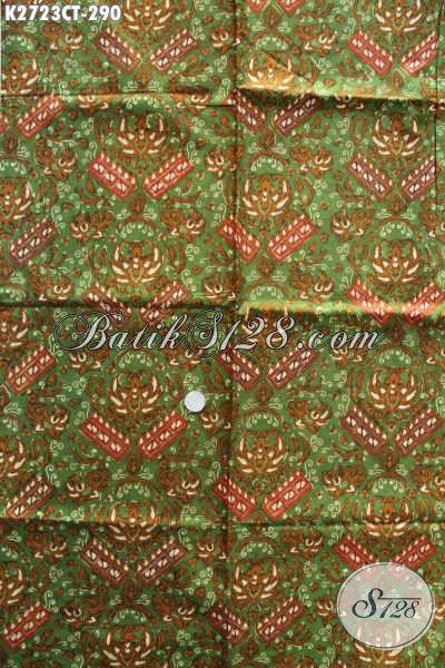 Kain Batik Halus, Batik Solo Asli Kwalitas Istimewa Motif Berkelas Proses Cap Tulis Harga 290K [K2723CT-240x110cm]