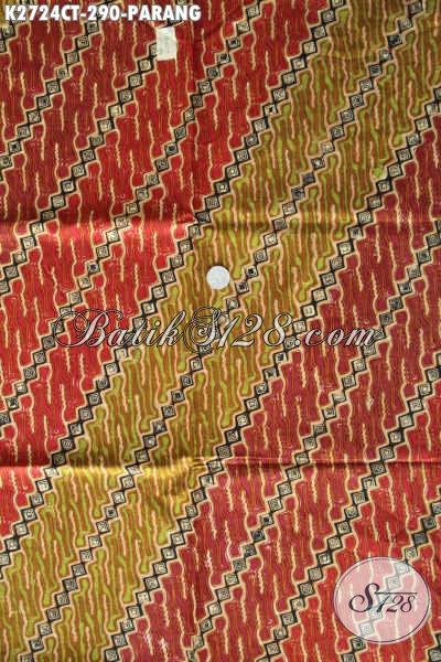 Batik Parang Warna Mewah, Kain Batik Istimewa Dari Solo Bahan Berkwalitas Tinggi Untuk Baju Kerja [K2724CT-240x110cm]