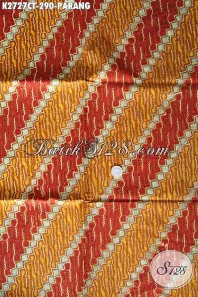 Batik Klasik Istimewa, Kain Batik Kwalitas Premium Buatan Solo Bahan Adem proses Cap Tulis, Cocok Banget Untuk Pakaian Formal [K2727CT-240x110cm]