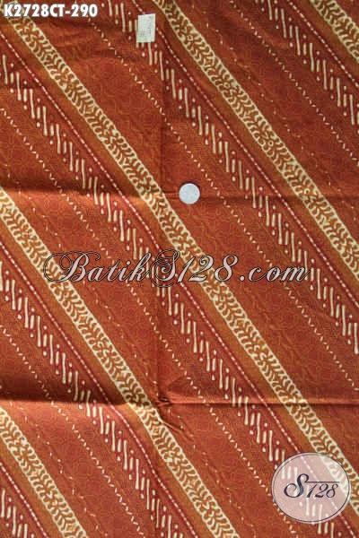 Sedia Kain Batik Kwalitas Bagus, Batik Bahan Kemeja Pria Proses Cap Tulis Untuk Penampilan Makin Tampan [K2728CT-240x110cm]