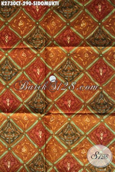 Batik Klasik Kwalitas Premium Motif Sidomukti, Produk Batik Bahan Pakaian Berkelas Asli Solo Harga 290 Ribu Proses Cap Tulis [K2730CT-240x110cm]