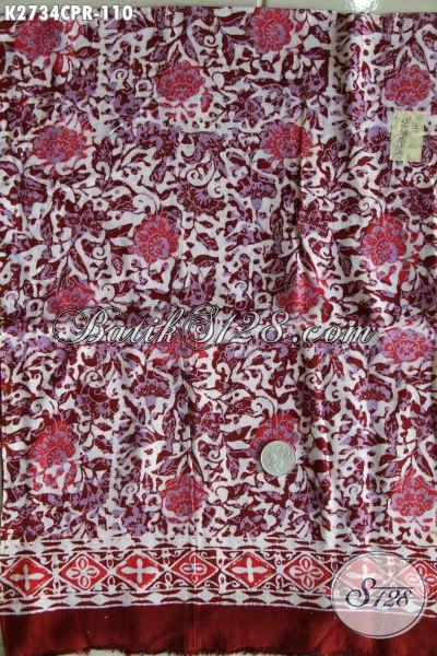 Batik Jawa Halus Berbahan Paris Berpadu Motif Modern Kwalitas Istimewa Proses Cap, Cocok Untuk Blus Dan Dress [K2734CPR-180x110cm]