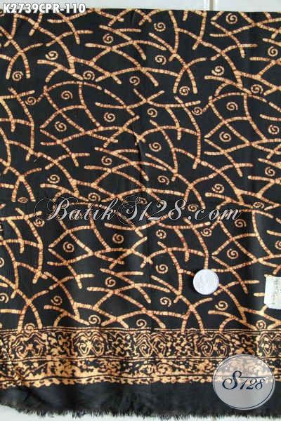 Kain Batik Bahan Hem, Batik Halus Untuk Busana Wanita, Batik Paris Motif Unik Proses Cap Harga 110K [K2739CPR-180x110cm]