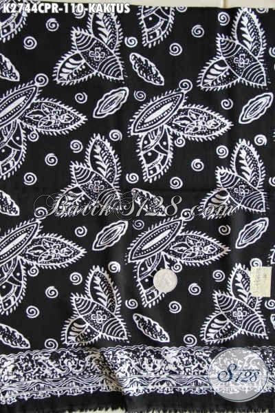Kain Batik Keren Motif Kaktus, Batik Paris Halus Proses Cap Untuk Kemeja Pria Nan Gaul [K2744CPR-180x110cm]
