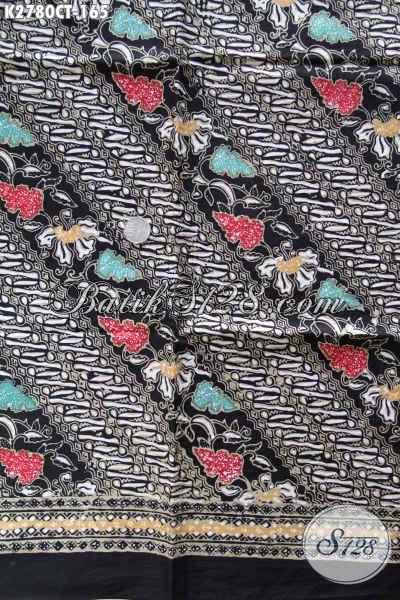 Batik Keren Motif Elegan, Batik Kain Istimewa Proses Cap Tulis Pas Banget Untuk Pakaian Pria [K2780P-200x110cm]