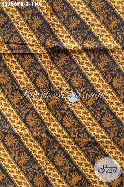 Jual Kain Batik Klasik Bahan Paris, Batik Halus Istimewa Buatan Solo Proses Cap Sogan Cocok Untuk Baju Berkelas Dan Trendy [K2786PR-180x110cm]