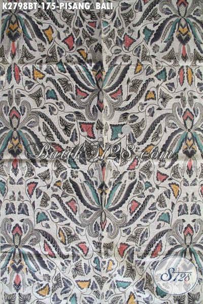 Batik Klasik Pisang Bali, Kain Batik Jawa Halus Proses Kombinasi Tulis Kwaitas Istimewa Cocok Untuk Busana Formal [K2798BT-240x110cm]
