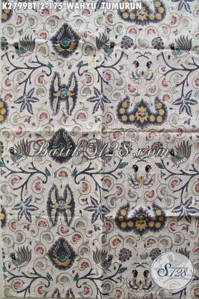 Jual Kain Batik Klasik Motif Wahyu Tumurun, Produk Batik Elegan Berkelas Bahan Adem Proses Kombinasi Tulis Untuk Pakaian Istimewa Dan Berkelas [K2799BT-240x110cm]