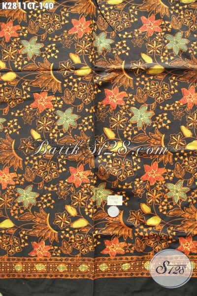 Jual Online Kain Batik Motif Bunga, Batik Cap Tulis Buatan Solo Untuk Buasana Yang Lebih Berkwalitas [K2811CT-200x110cm]
