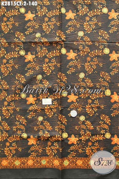 Batik Bahan Baju Kerja, Kain Batik Untuk Busana Santai, Batik Solo Kwalitas Istimewa motif Terkini Proses Cap Tulis Hanya 100 Ribuan [K2815CT-200x110cm]