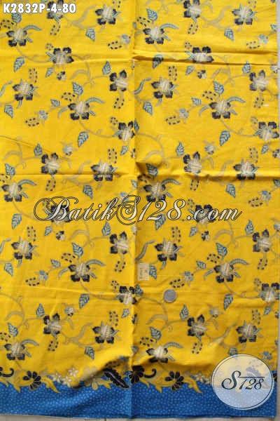 Toko Batik Online Jual Kain Motif Terkini Dasar Kuning Exclusive Untuk Busana Santai Tampil Lebih Trendy [K2832P-240x105cm]