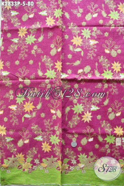 Jual Kain Batik Warna Pink Bahan Pakaian Wanita Muda Dan Remaja Putri Tampil Lebih Feminim [K2833P-240x105cm]