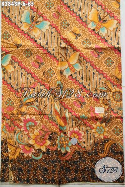 Toko Online Batik Solo Terpercaya, Sedia Kain Batik Elegan Mewah Motif Klasik Bahan Pakaian Formal Berkelas Hanya 65K [K2843P-200x110cm]