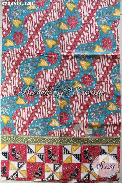 Batik Jawa Terkini Hadir Dengan Motif Klasik Berpadu Kombinasi Warna Modern Nan Istimewa Proses Cap Tulis, Cocok Untuk Pakaian Modis Berkelas [K2849CT-200x110cm]