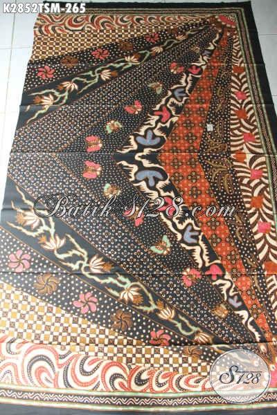 Jual Online Kain Batik Kwalitas Premium, Batik Solo Halus Proses Tulis Motif Sinaran Bahan Busana Kerja Tampil Mewah Berkelas [K2852TSM-200x110cm]