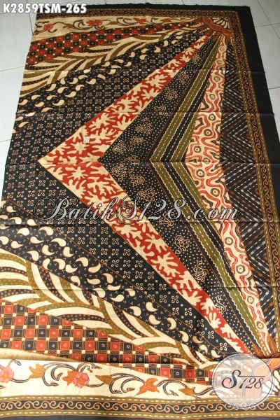 Jual Kain Batik Solo Halus, Batik Jawa Tengah Istimewa Proses Tulis Motif Sinaran Bahan Kemeja Lengan Pendek Kwalitas Premium [K2859TSM-200x110cm]