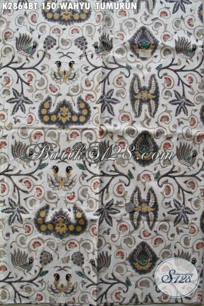 Batik Klasik Lawasan Bahan Pakaian Formal, Batik Kombinasi Tulis Motif Wahyu Tumurun Kwalitas Halus Hanya 150K [K2864BT-240x110cm]