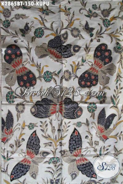 Online Shop Jual Kain Batik Motif Kupu Kombinasi Tulis, Batik Halus Dari Solo Bahan Aneka Busana Berkelas Hanya 100 Ribuan [K2865BT-240x110cm]