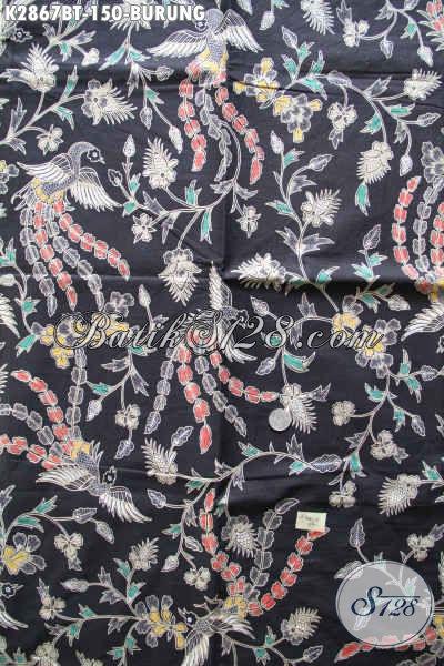 Batik Kain Halus Motif Burung, Batik Solo Asli Proses Kombinasi Tulis Untuk Busana Pria Dan Wanita [K2867BT-240x110cm]