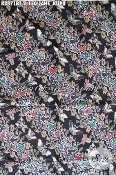 Batik Kain Motif Kupu Jahe, Produk Batik Halus Lawasan Proses Kombinasi Tulis Cocok Untuk Pakaian Kerja Kantoran [K2871BT-240x110cm]