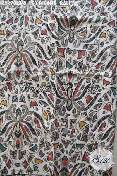 Jual Kain Batik Klasik Pisang Bali, Batik Lawasan Istimewa Buatan Solo Untuk Baju Kerja Dan Kondangan Proses Kombinasi Tulis [K2872BT-240x110cm]